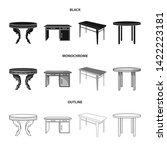 vector design of table and... | Shutterstock .eps vector #1422223181