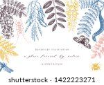floral background. flowering... | Shutterstock .eps vector #1422223271