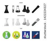 vector illustration of flask... | Shutterstock .eps vector #1422224327
