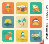 summer icon set 2. flat design...