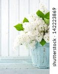 Bouquet Of White Lilac Spring...