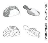 vector illustration of crop and ... | Shutterstock .eps vector #1422249731
