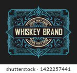 whiskey label for packing.... | Shutterstock .eps vector #1422257441