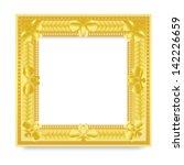 gold vintage frame | Shutterstock . vector #142226659