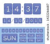blue flip calendar with flat... | Shutterstock .eps vector #1422266687