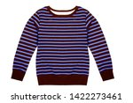 men's sweater with stripes... | Shutterstock . vector #1422273461