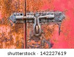 Close Up Rusty Door Bolt On...