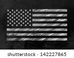 the us flag drawn on a backboard | Shutterstock . vector #142227865