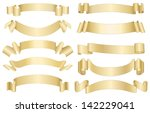 curly ribbons for inscriptions | Shutterstock . vector #142229041
