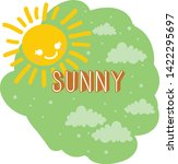 cute funny sunny weather vector | Shutterstock .eps vector #1422295697