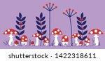 Mushroom Forest Herb Border...
