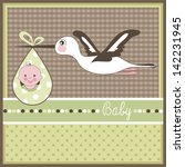 baby arrival card | Shutterstock .eps vector #142231945