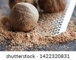 Making Nutmeg Powder Process....