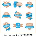 top pr marketing labels  set 10  | Shutterstock .eps vector #142232377