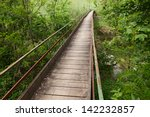 Old Narrow Wooden Bridge...