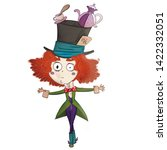 Stock photo man with red hair and a hat mad hatter 1422332051