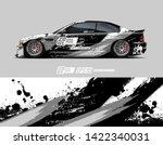 car wrap decal design concept.  ... | Shutterstock .eps vector #1422340031