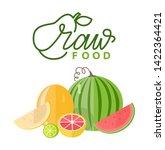fruit decoration  slice of...   Shutterstock .eps vector #1422364421