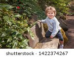 little boy playing in the park. ...   Shutterstock . vector #1422374267