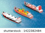 isometric cargo ship container  ... | Shutterstock .eps vector #1422382484