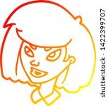 warm gradient line drawing of a ...   Shutterstock .eps vector #1422399707