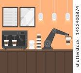 flat vector illustration coffee ... | Shutterstock .eps vector #1422400874