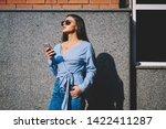 young caucasian woman... | Shutterstock . vector #1422411287