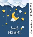 sweet dream and good night... | Shutterstock .eps vector #1422422051