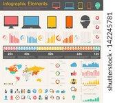 it industry infographic elements | Shutterstock .eps vector #142245781
