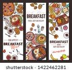 healthy breakfast and brunches... | Shutterstock .eps vector #1422462281