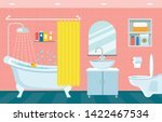 modern interior of bathroom and ... | Shutterstock .eps vector #1422467534