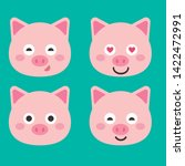 cute pig vector illustration....   Shutterstock .eps vector #1422472991
