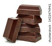 broken milk chocolate bars... | Shutterstock . vector #1422474941