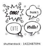 set of comic bubbles speech ... | Shutterstock .eps vector #1422487094
