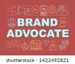 brand advocate word concepts...