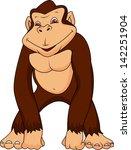 gorilla cartoon   Shutterstock .eps vector #142251904
