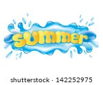 vector. water splash. | Shutterstock .eps vector #142252975