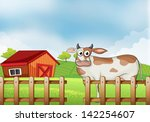illustration of a farm with a... | Shutterstock . vector #142254607