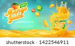 horizontal banner with 3d... | Shutterstock .eps vector #1422546911