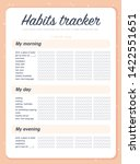 vector habits tracker page... | Shutterstock .eps vector #1422551651