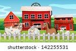 illustration of the animals... | Shutterstock . vector #142255531