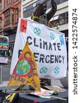 Small photo of Nottingham, November 17th 2018.The Brian Clough statue in Nottingham is surrounded by Climate change activists and environmental protesters from Extinction Rebellion.