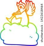 rainbow gradient line drawing... | Shutterstock .eps vector #1422618464