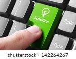 closeup of green solution... | Shutterstock . vector #142264267