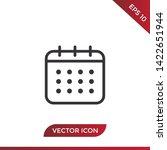 calendar vector icon in modern...