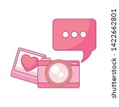 camera photographic with speech ...   Shutterstock .eps vector #1422662801