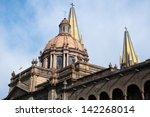 guadalajara cathedral  jalisco  ...   Shutterstock . vector #142268014
