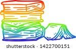 rainbow gradient line drawing... | Shutterstock .eps vector #1422700151