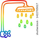 rainbow gradient line drawing... | Shutterstock .eps vector #1422705017
