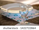 empty dishware table set in... | Shutterstock . vector #1422722864